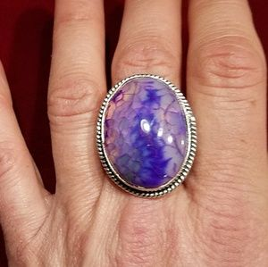 Jewelry - Large sterling statement ring